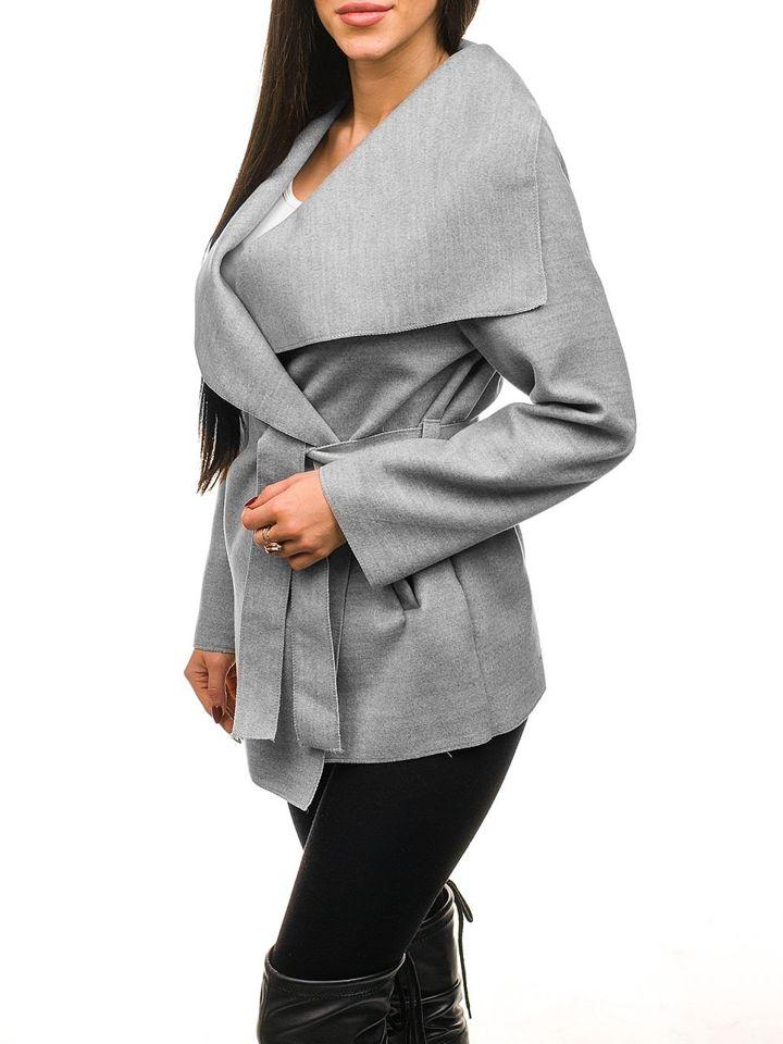 Сіре жіноче пальто Bolf 1726 SZARY 964b68e867912