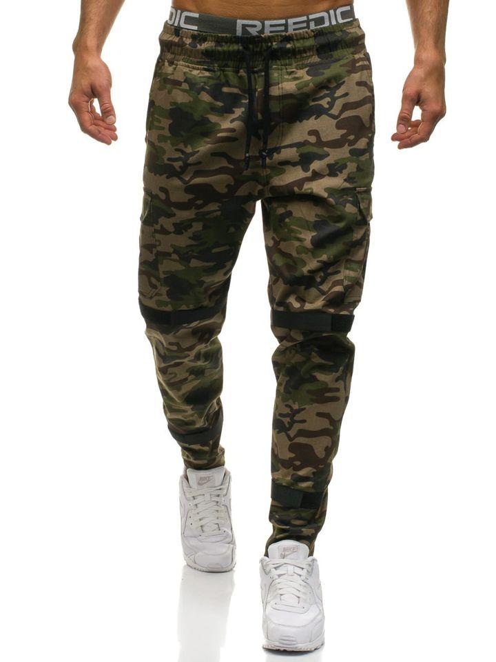 0437f548e076 Мужские брюки карго камуфляж-зеленые Bolf 2035 ЗЕЛЕНЫЙ