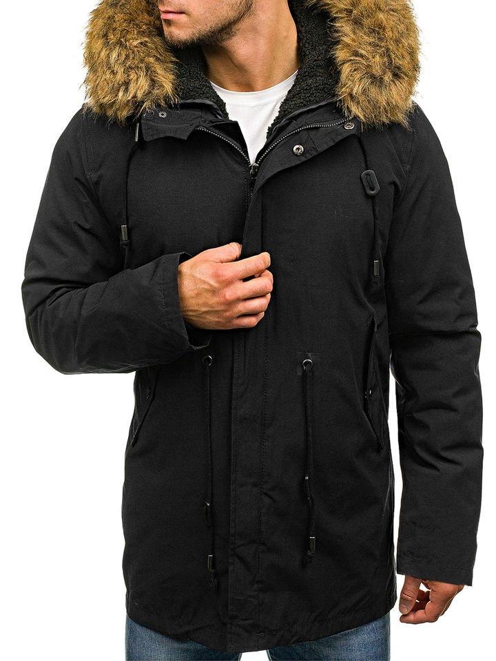 Чоловіча куртка парка 2в1 чорна Bolf B3550 ЧОРНИЙ 1ab940e6238b8