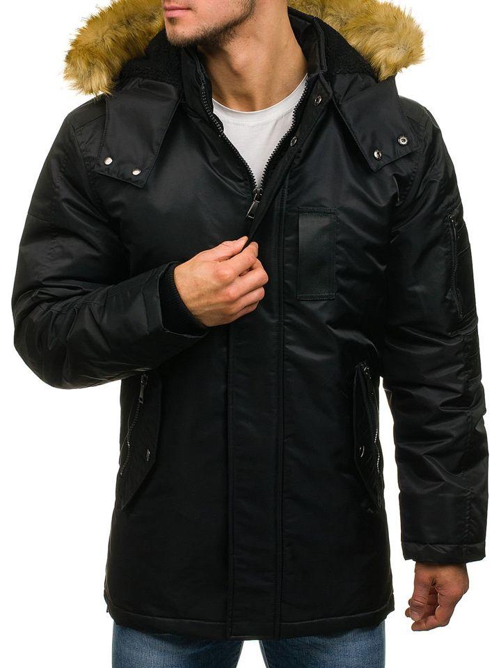 Чоловіча зимова куртка парка чорна Bolf 3097 c48a66aa59fa1