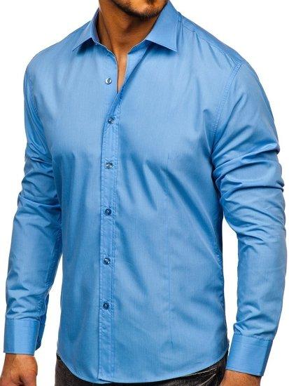 c89eac4e58bdc35 ... Рубашка мужская BOLF 1703 голубая ...