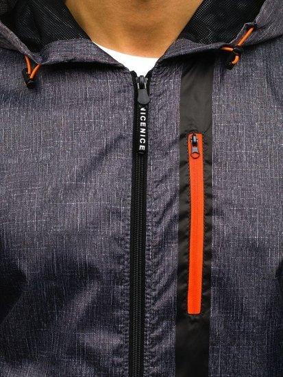 Мужская демисезонная куртка графитовая Bolf HY193