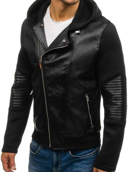 Черная мужская демисезонная куртка Bolf 2295