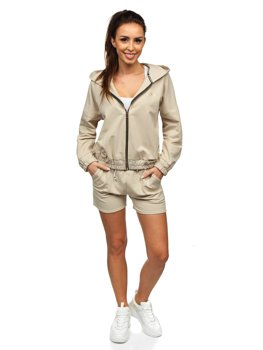 Бежевый женский спортивный костюм Bolf 2062