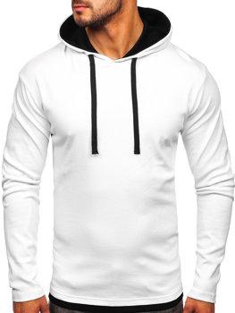 Белая мужская толстовка с капюшоном Bolf 03