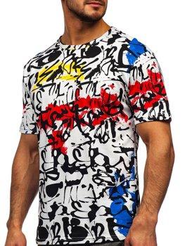 Белая мужская футболка с принтом Bolf 14901