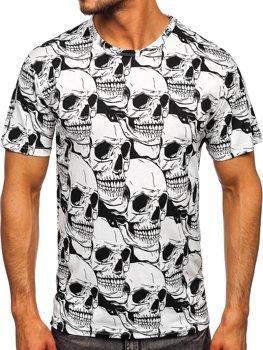 Белая мужская футболка с принтом Bolf 14917