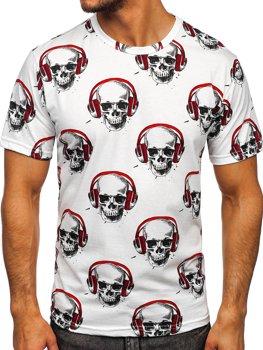 Белая мужская футболка с принтом Bolf 14919