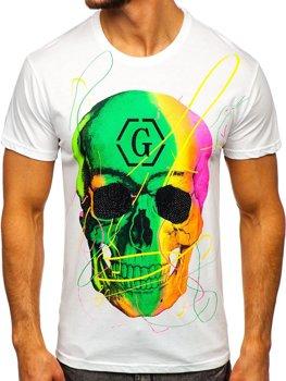 Белая мужская футболка с принтом Bolf KS2107