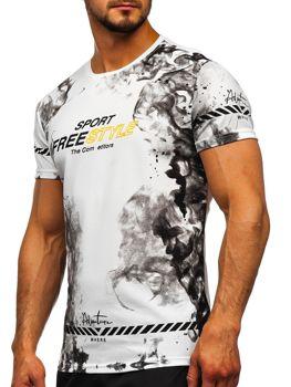Белая мужская футболка с принтом Bolf SS11003