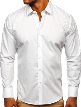 Белая мужская элегантная рубашка с длинным рукавом Bolf SM13