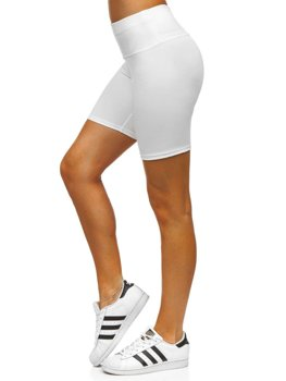 Белые короткие женские леггинсы Bolf 54548