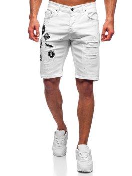 Белые мужские джинсовые шорты Bolf 3029-1