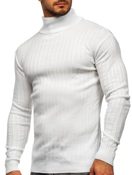 Белый мужской свитер гольф Bolf 520