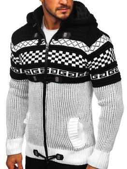 Белый мужской свитер толстой вязки Bolf 2061