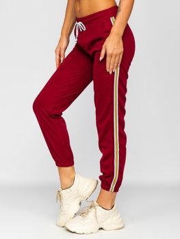 Бордовые женские спортивные штаны Bolf YW01020B