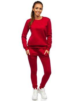 Бордовый женский спортивный костюм Bolf 0001