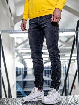 Брюки мужские джинсы джоггеры черные Bolf HY562