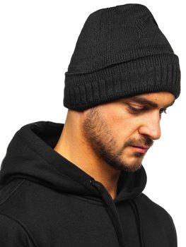 Графитовая зимняя мужская шапка YS-32