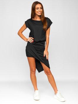 Графитовое длинное женское платье Bolf 8812