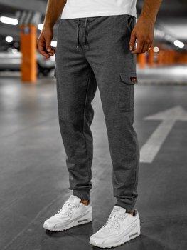 Графитовые мужские спортивные брюки карго Bolf JX323