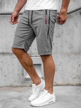 Графитовые мужские спортивные шорты Bolf JX366