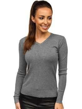 Графитовый женский свитер Bolf AL0204L