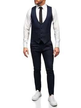 Графитовый костюм мужской жилет и брюки Bolf 0019