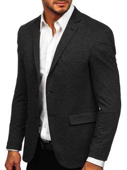 Графитовый элегантный мужской пиджак Bolf C191060