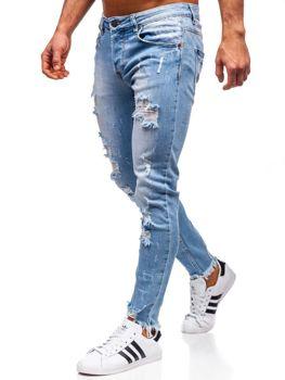 Джинсы мужские skinny fit темно-синие Bolf KA279