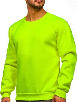 Желто-неоновая мужская толстовка без капюшона Bolf 2001