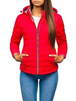 Женская демисезонная куртка розовая Bolf AB054