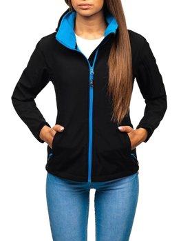 Женская демисезонная куртка софтшелл черная Bolf AB056