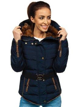 Женская зимняя куртка темно-синяя Bolf 11