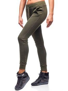 Женские спортивные брюки зеленые Bolf WB11003