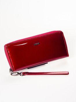 Женский кожаный кошелек красный 1214