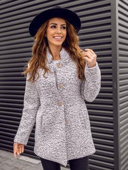 Женское пальто белое Bolf 6011-1
