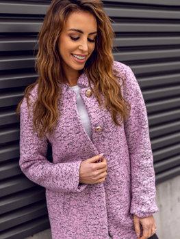 Женское пальто розовое Bolf 6011-1