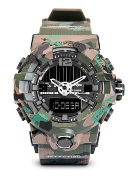 Зеленый камуфляж мужские наручные часы Bolf 3261