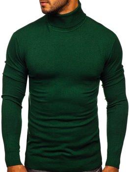 Зеленый мужской свитер гольф Bolf YY02