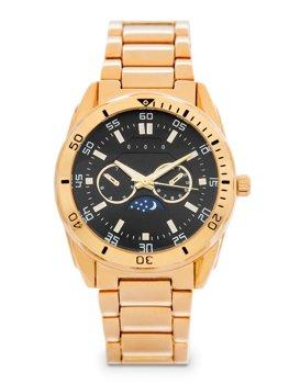 Золотые мужские наручные часы из стали Bolf 5687