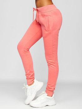 Коралловые женские спортивные брюки Bolf CK-01