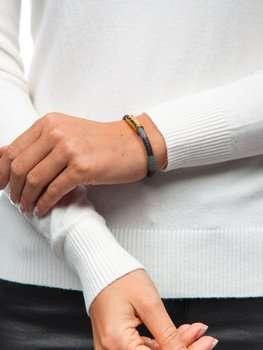 Коричневый женский браслет Bolf B031