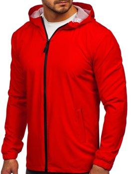 Красная мужская спортивная куртка ветровка  Bolf HH035