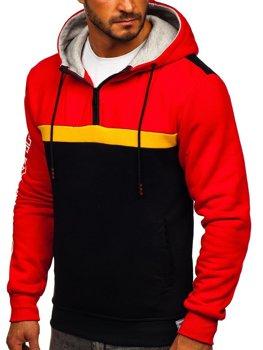 Красная мужская толстовка с капюшоном и принтом Bolf KS2223