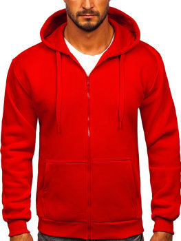 Красная мужская толстовка с капюшоном Bolf 2008