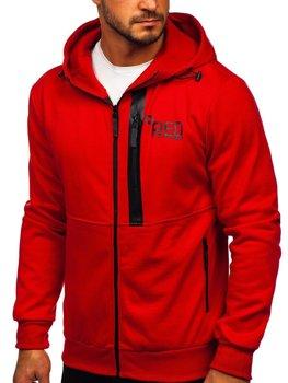 Красная мужская толстовка с капюшоном Bolf 80502
