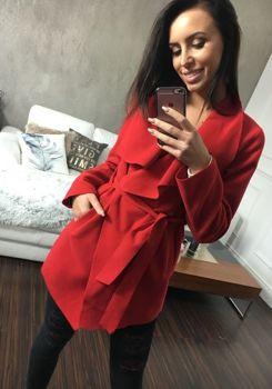 Красное женское пальто Bolf 1726