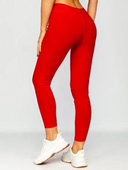 Красные женские леггинсы Bolf YW01056