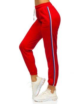 Красные женские спортивные брюки Bolf  YW01020